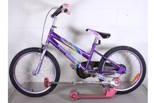 Southern Star Purple BMX Girls Bike/ Girls Pink Sccoter
