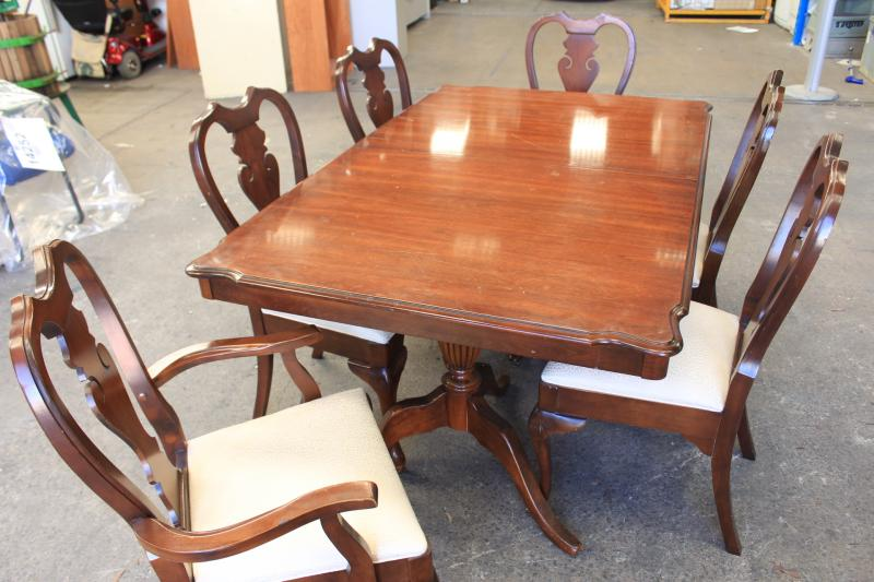 Knechtel Furniture Cherry Timber Formal Dining Setting