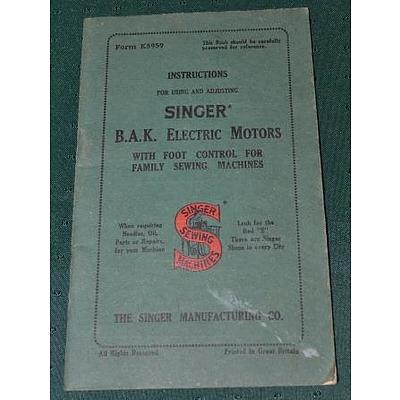 Antique Singer Sewing Machine Instruction Lot 692552 Allbids
