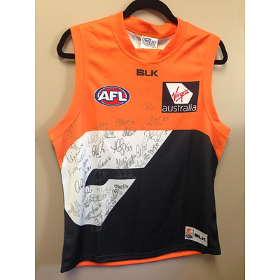 separation shoes 04249 74092 GWS Giants Jersey signed by the 2016 squad