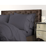 Royal Comfort 1000 Thread Count Single Charcoal-Silver Quilt Cover Set - RRP $269 - Brand New