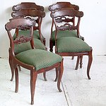 Five (5) mixed Victorian Mahogany Dining Room Chairs