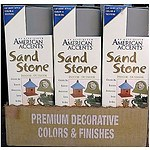 Rustoleum American Accents Sand Stone Paints - PEBBLE Colour - 6 X 340gm Spray cans