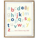 Pale Yellow 350GSM Paper - Alphabet Wall Print - 8x10 in - RRP $19.95 - Brand New