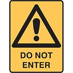 Warning Safety Sign - Do Not Enter - RRP $28.82 - Brand New