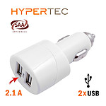 Hypertec USB Dual Car Charger - with Warranty