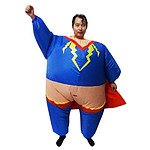 Super Hero Fancy Dress Inflatable Suit -Fan Operated Costume RRP $89.95 - Brand New