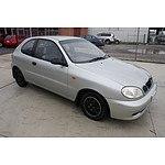 1/2003 Daewoo Lanos SE  3d Hatchback Silver 1.5L