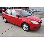 6/2009 Ford Focus CL LV 4d Sedan Red 2.0L