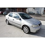 2/2003 Holden Astra Equipe TS 5d Hatchback Silver 1.8L