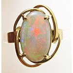 14ct Gold Solid Opal Ring