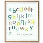 Green Hues 350GSM Paper - Alphabet Wall Print - 11x14 in - RRP $29.95 - Brand New