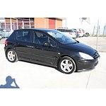 8/2002 Peugeot 307 2.0  5d Hatchback Black 2.0L