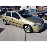 4/2005 Holden Astra Classic Equipe TS MY05 4d Sedan Gold 1.8L