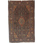 Antique Finely Woven Persian Mahal Rug Early 20th Century